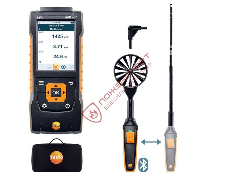 testo 440 delta P Комплект для вентиляции 1 с Bluetooth