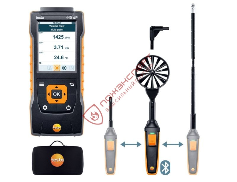 testo 440 delta P Комплект для вентиляции 2 с Bluetooth
