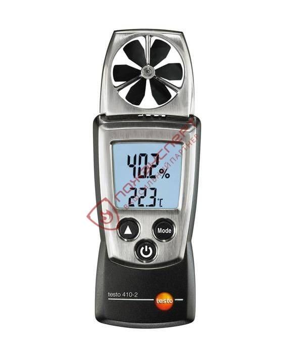 testo 410-2 - Карманный анемометр с крыльчаткой и сенсором влажности Testo
